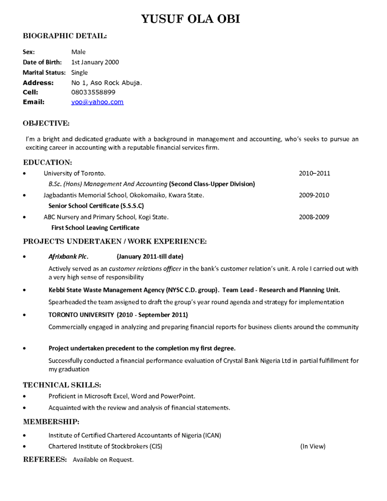 Fresh Graduate Resume Application Letter For Sample Without Work