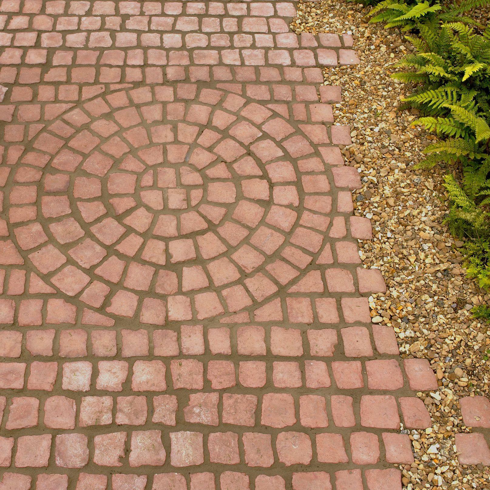 Floor mats b q - Rustic Red Carpet Stones Cobble Mat Straight L 1200mm W 400mm