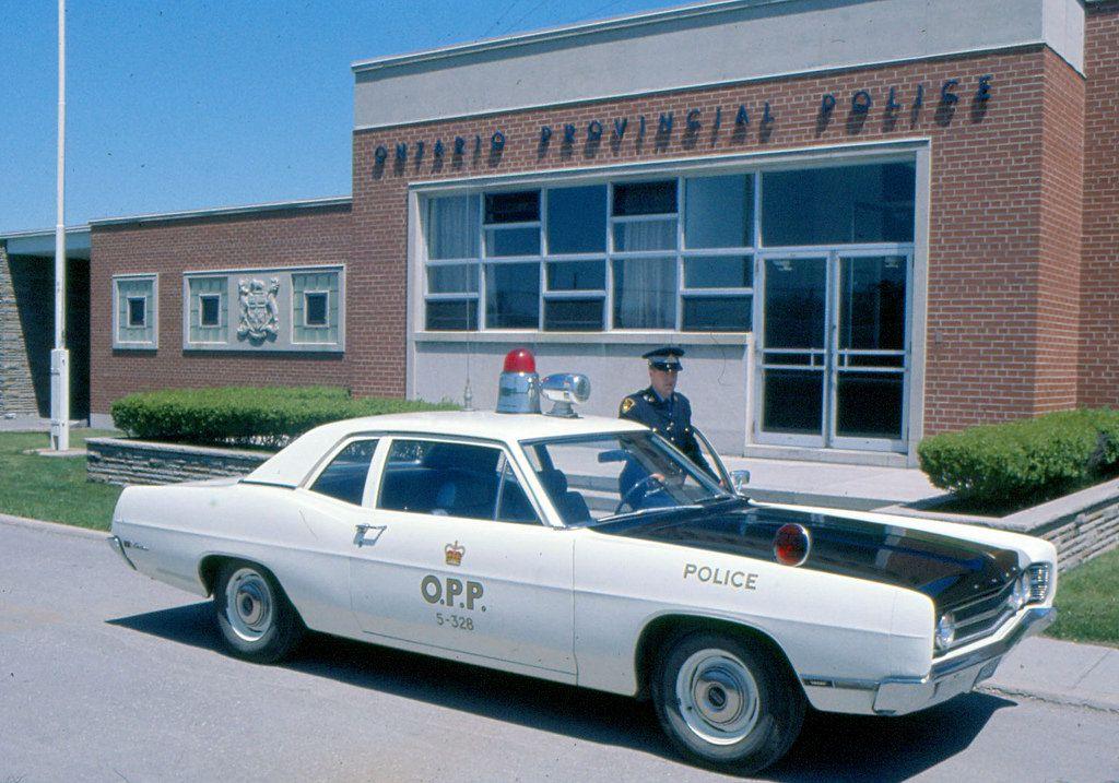 Ford Cruiser At The Bracebridge Detachment Circa 1969 Police Cars Old Police Cars Fire Trucks