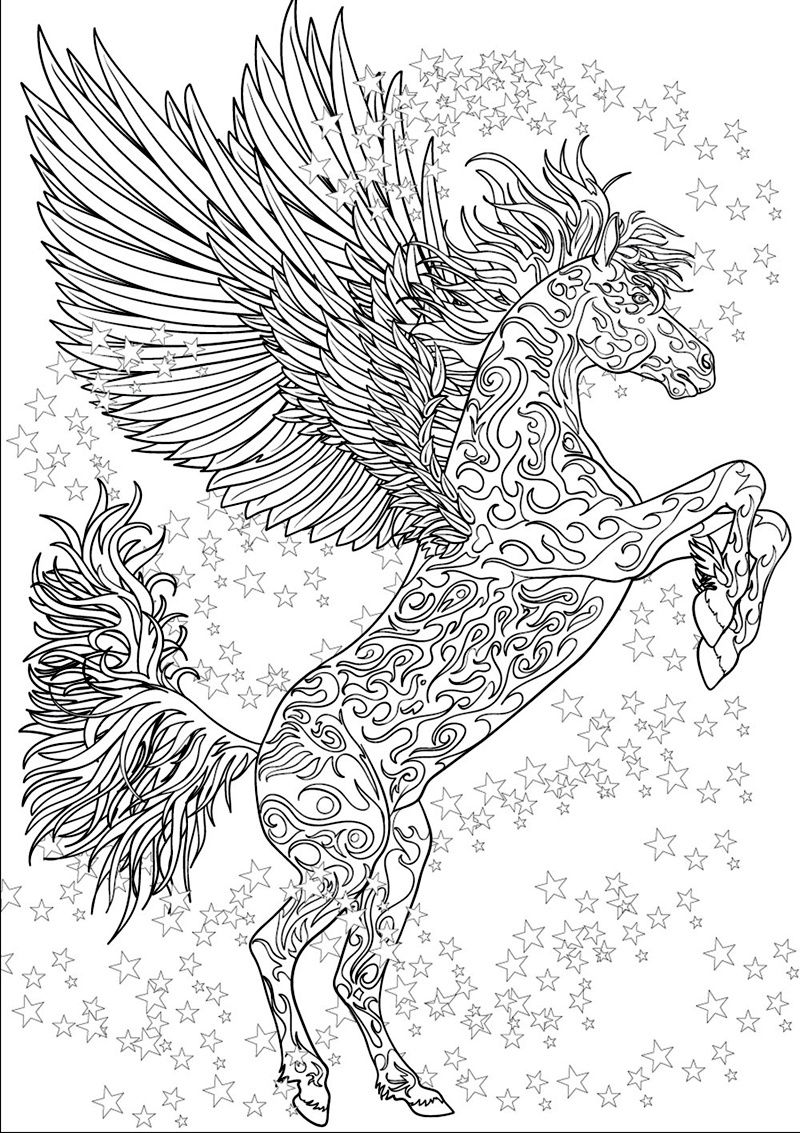 coloriages COLORING PAGES Horse coloring pages
