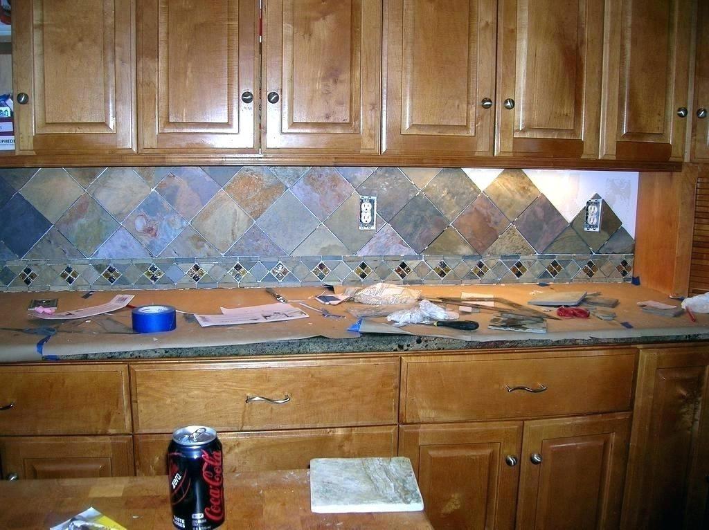 how to grout slate tile backsplash