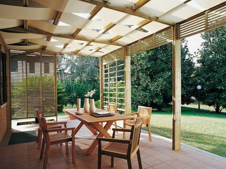 Définition pergola moderne au design innovant, table en bois ...