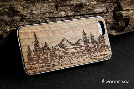 Custom Wooden Case Lion Tribal Case Real Wood Engraving Soft Rubber Protective For iPhone 11 Pro Max Case