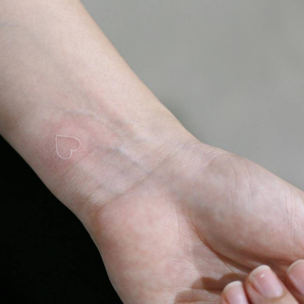 Image result for white stick and poke tattoo
