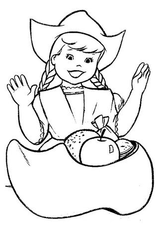 Christmas Eve In Holland Coloring Page Merry Christmas Coloring
