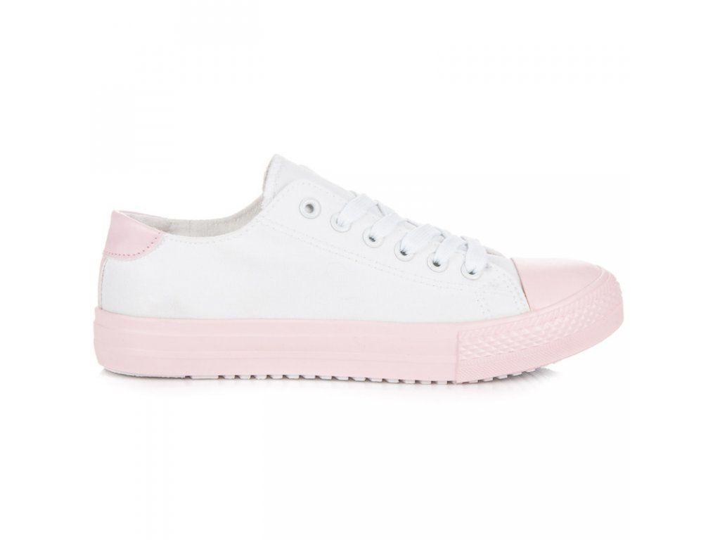 0d2682099f Dámske bielo ružové plátenky Cnb