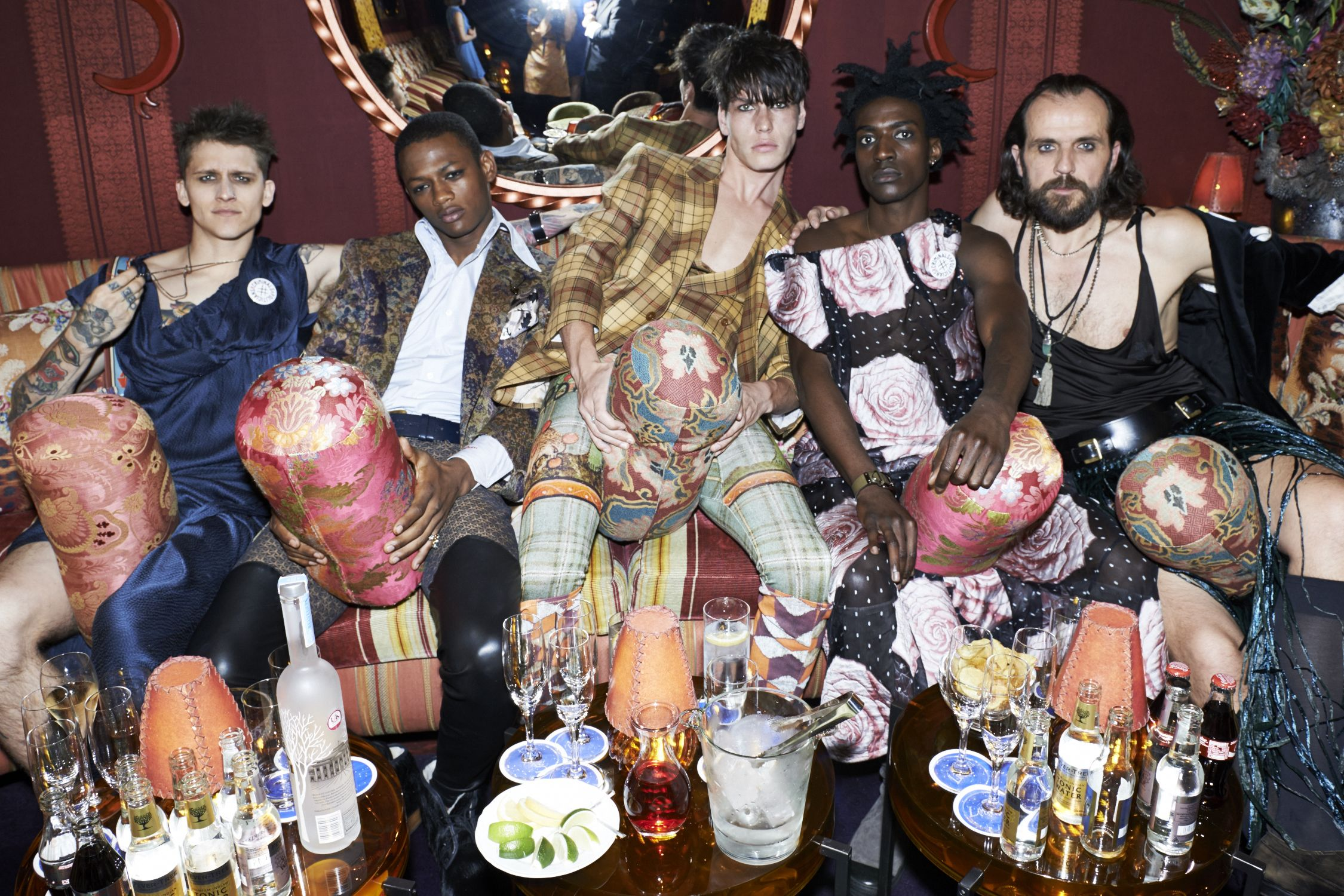 Andreas & the UNISEX rebel gang at the Vivienne Westwood & Another Man Psychedelic Unisex party. #VivienneWestwoodBespoke #AnotherMan10Years Picture: Amelia Karlsen
