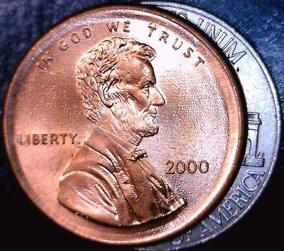 error #errorcoins 2000 Large Broadstruck ERROR Lincoln Penny