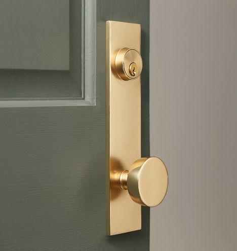 Tumalo brass knob exterior door hardware tubelatch set - How to clean exterior brass door handles ...