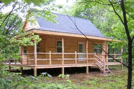 Wrap around porch cabin plans google search tiny homes for Cabin wrap around porch