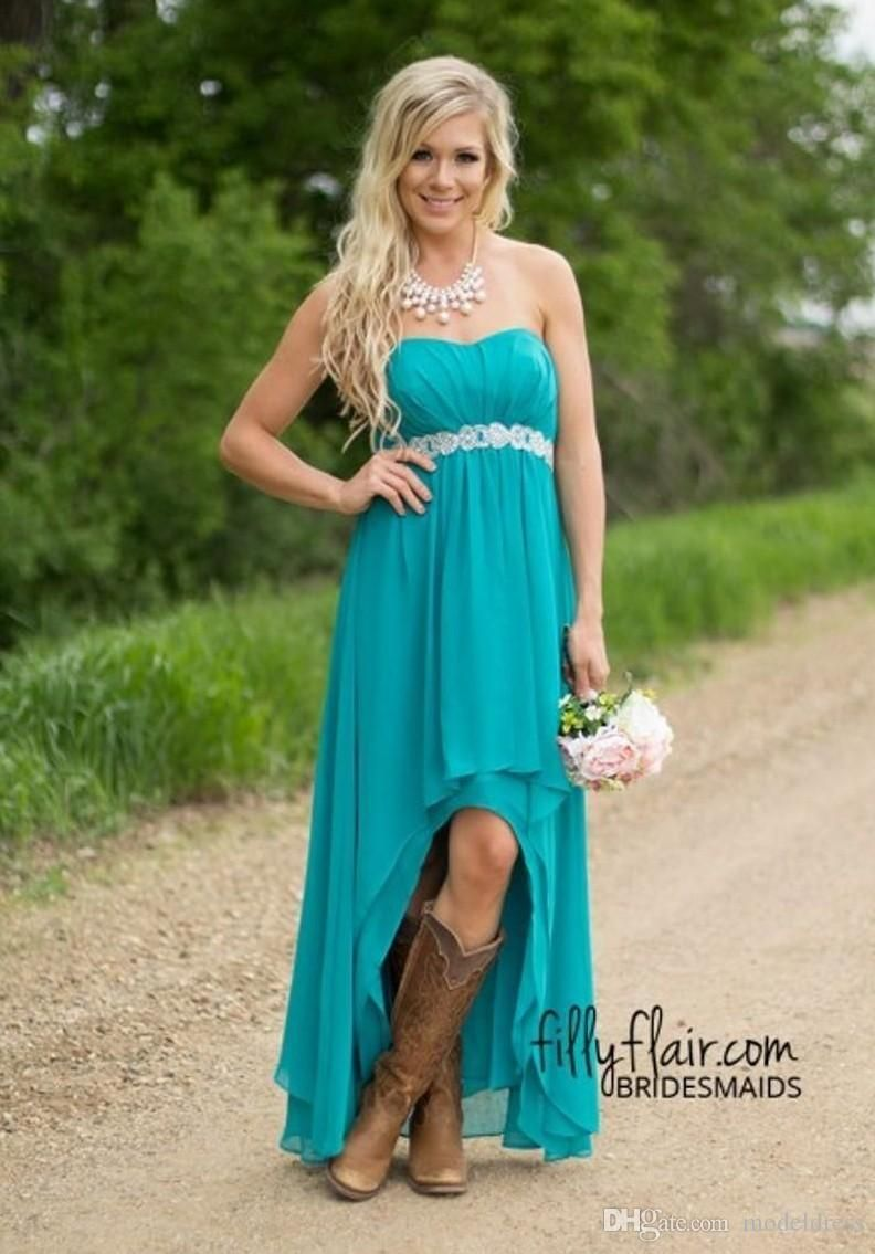 2016 high low country bridesmaid dresses cheap under 80 sweetheart 2016 high low country bridesmaid dresses cheap under 80 sweetheart sash hi lo chiffon hunter ombrellifo Choice Image