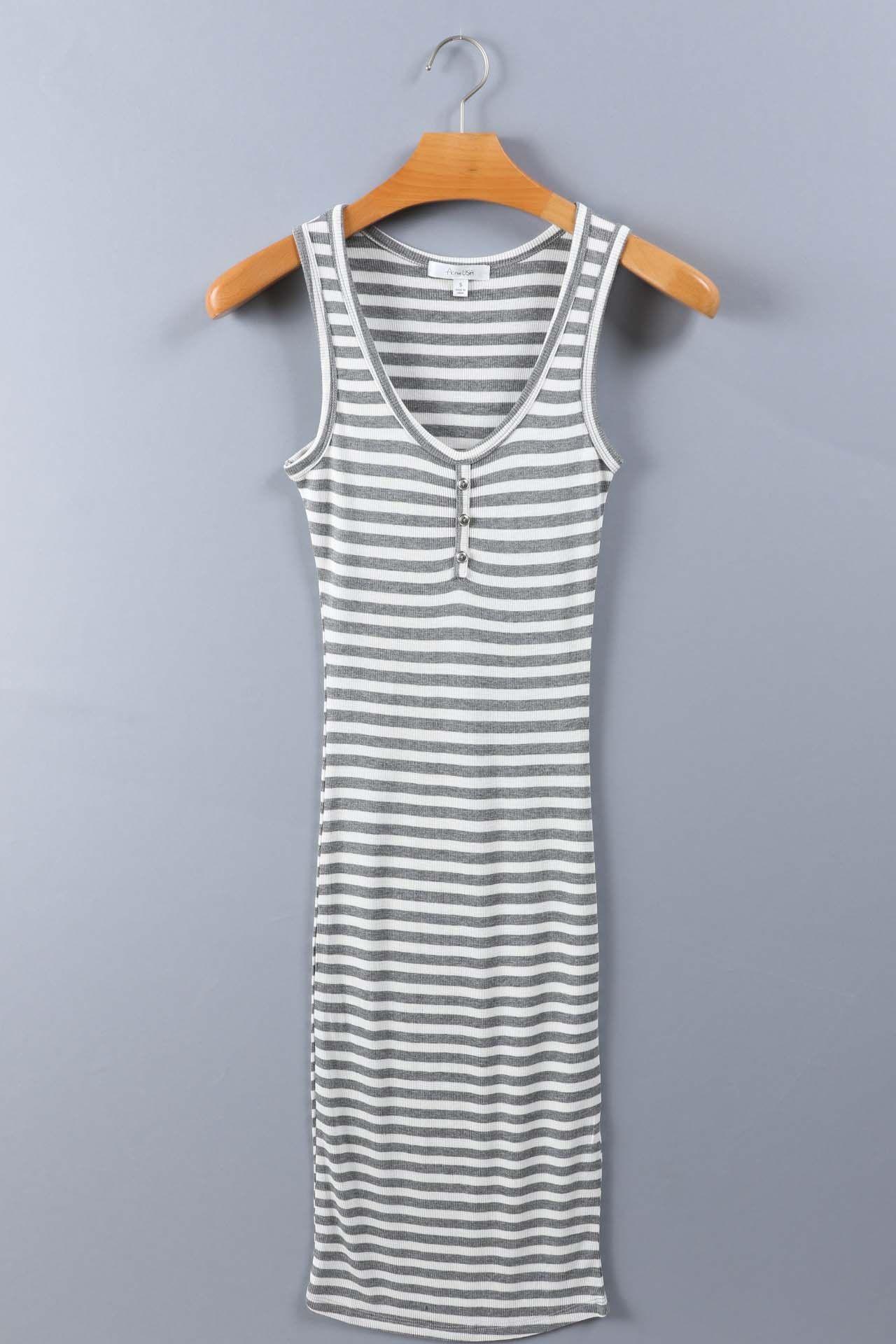 Green long sleeve cocktail dress  Salt Tree Womenus Button Front Cotton Stripped Long Dress US Seller
