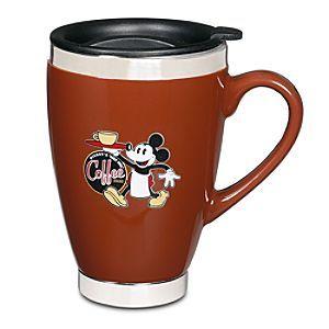 Ceramic Mickey Mouse Travel Mug Mugs Disney Plates Coffee Mugs