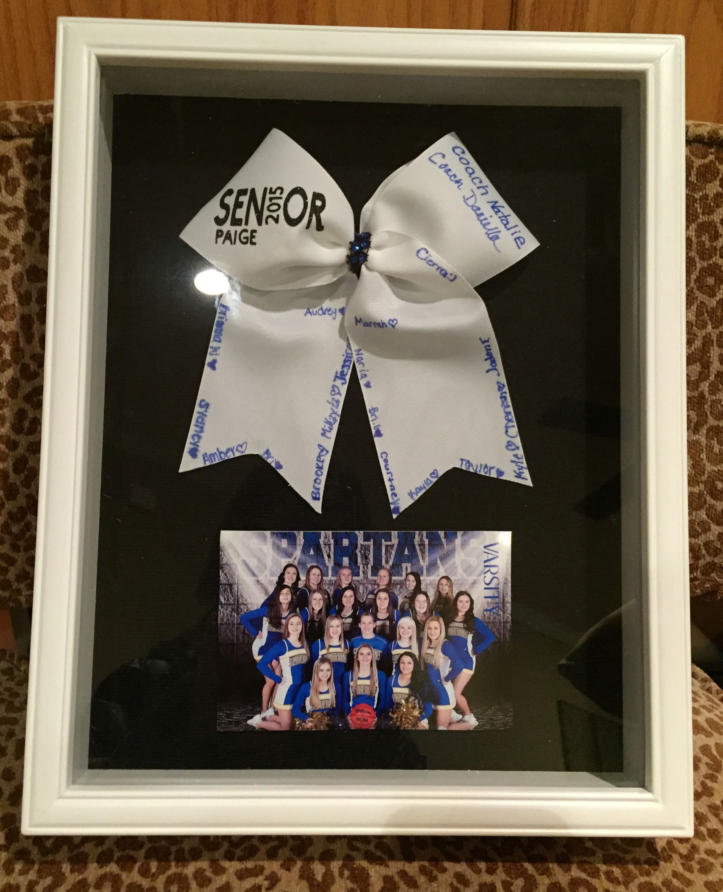 Cheerleading Senior / Coach Gift Shadow Box | Cheer ...