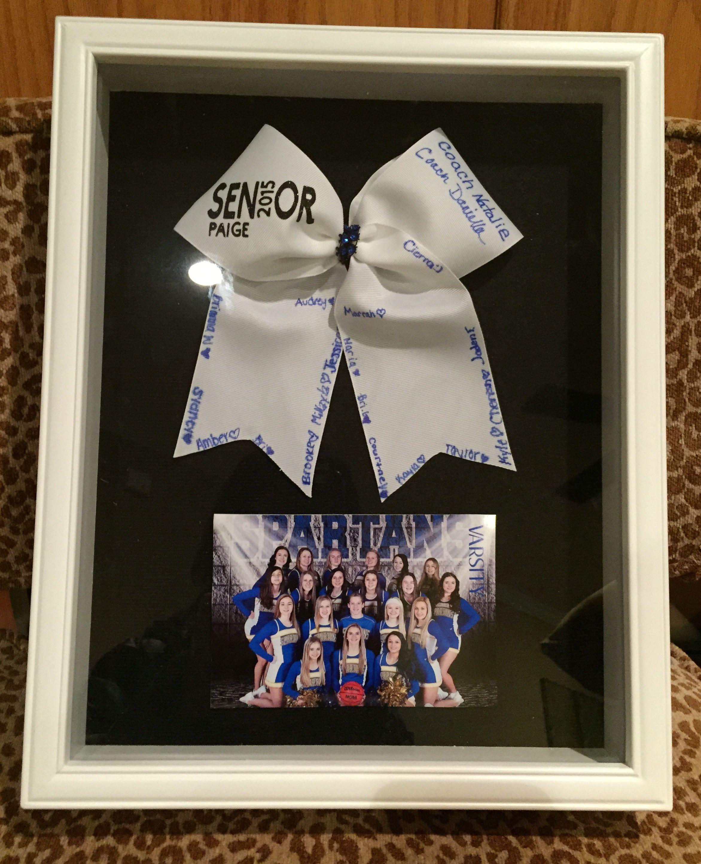 Cheerleading Senior Coach Gift Shadow Box Cheer Ideas