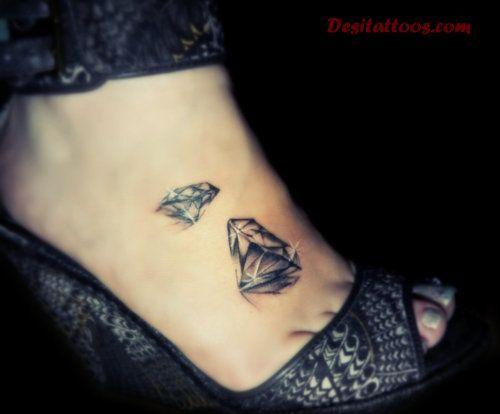Diamond Tattoos On The Foot Tattoo Pinterest Tatouage