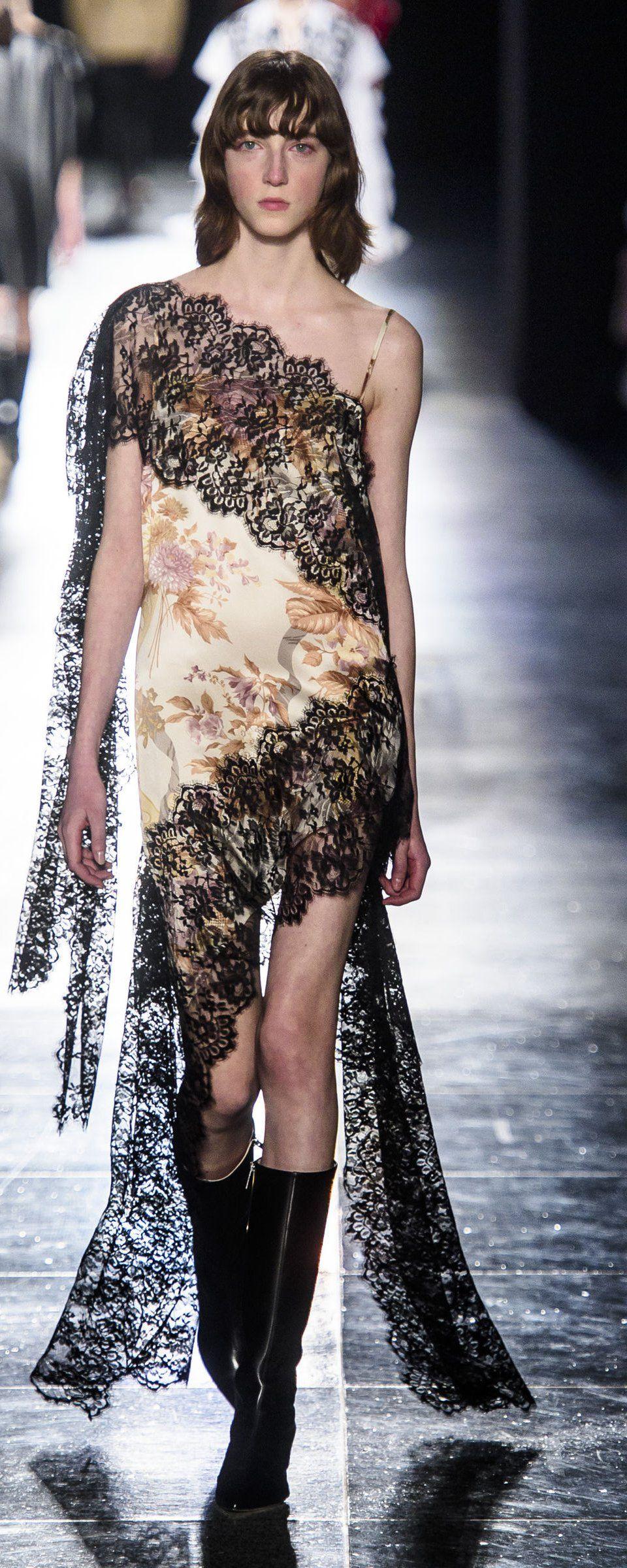 Lace dress with shorts underneath september 2019 Christopher Kane Fallwinter   ReadytoWear  Christopher