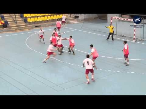 Tactical Moves In Offense Set Play By Peter Kovacs Youtube Team Handball Warm Up Games Handball