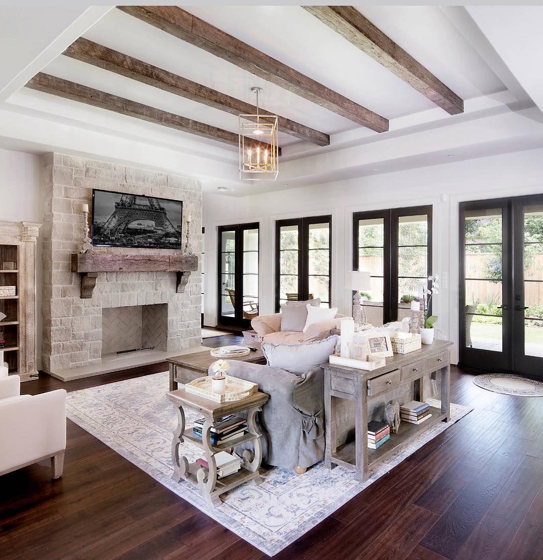 Txrootshome On Instagram Amazing Living Room Loving The Beams