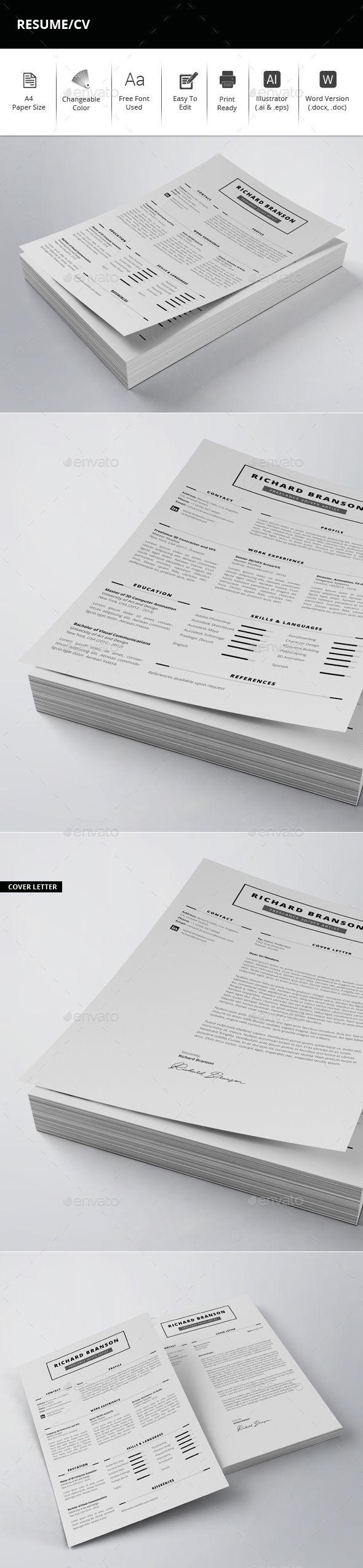 Resume/CV | CVs | Pinterest | Revistas