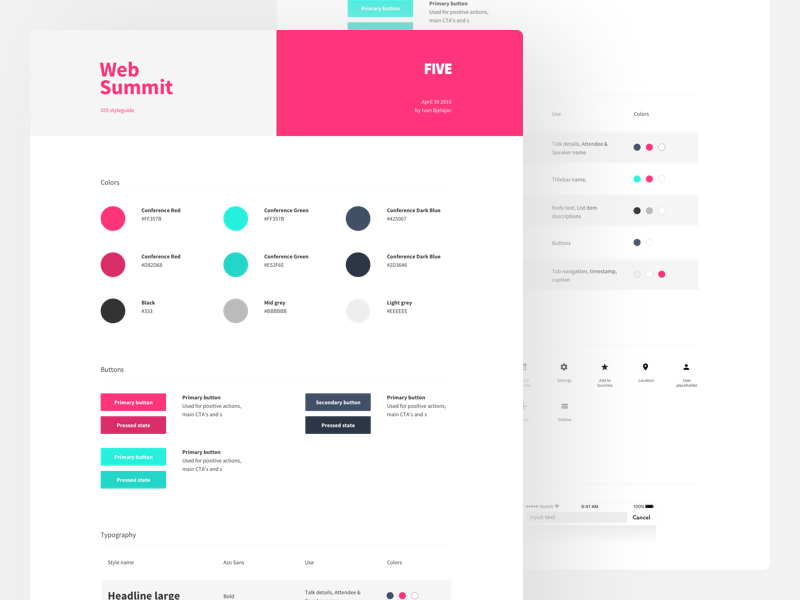 project style guide template ui design style guides ui design