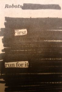 How to write a newspaper blackout poem.