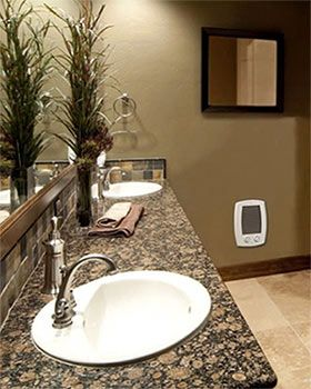 Electric Wall Heater In Bathroom