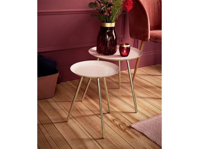 Livarno Living Beistelltisch 2er Set Tischplatten Aus