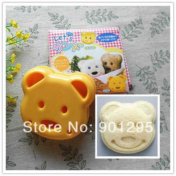 Wholesale free shipping Cute Smiley Face Bear 3D sushi mold Sandwich / Cheese / Ham Cutter / Rice Mold Mould And Stamps-in Sushi Molds from Home & Garden on Aliexpress.com | Alibaba Group