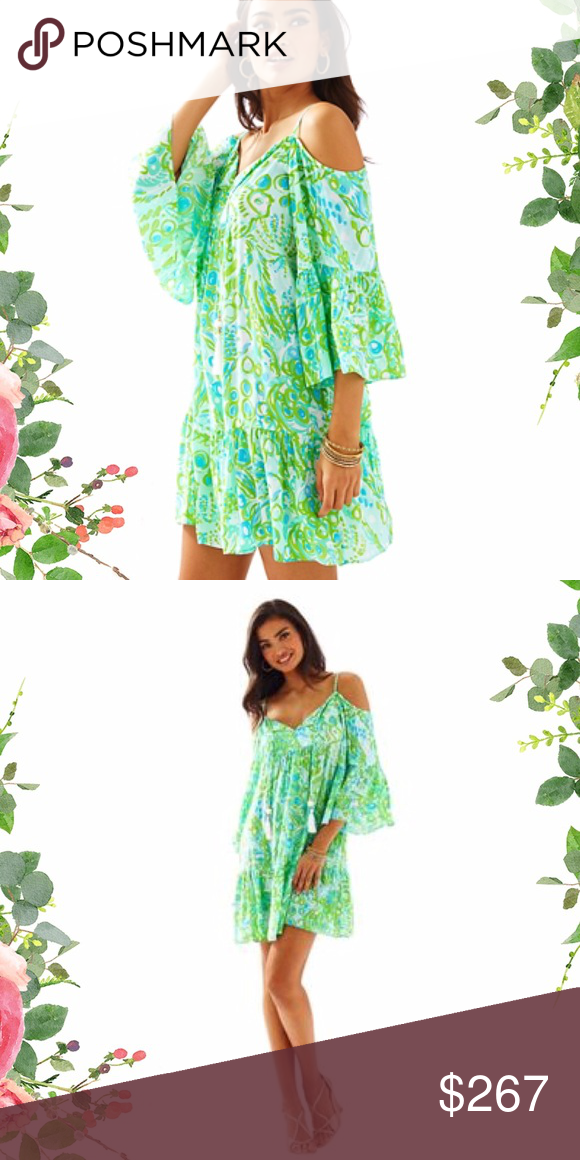 735b75308dc57 Lilly Pulitzer Alanna Off The Shoulder Dress. This print has sold out. I  currently have an XS and a Medium. Due to fees of this platform