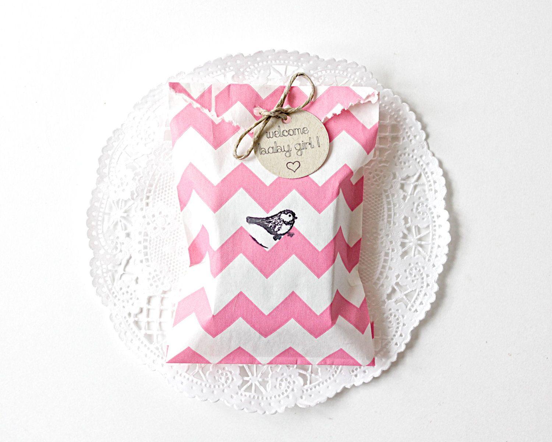 25 Custom Baby Girl Shower Favors - Pink Chevron - Soap Favors ...