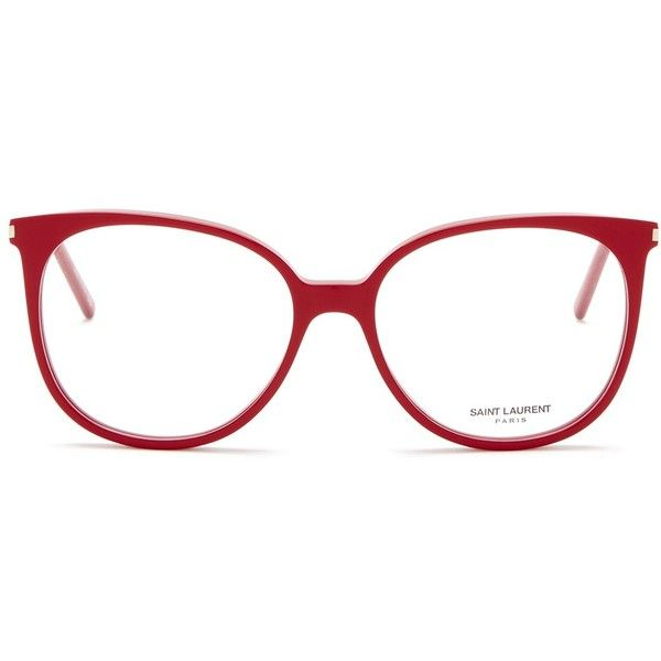 815f1b0ed34 Saint Laurent Women s Oversized Round Acetate Optical Frames ( 130) ❤ liked  on Polyvore featuring