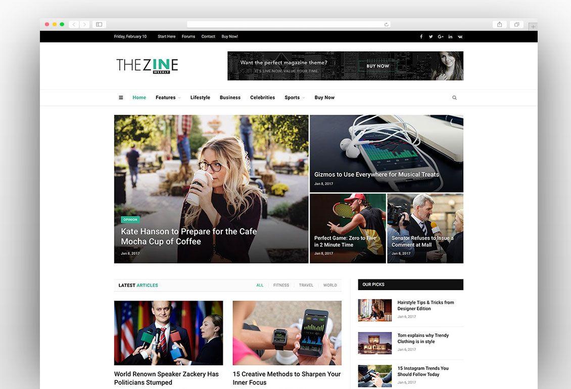 SmartMag | News WordPress Themes | Pinterest | Wordpress
