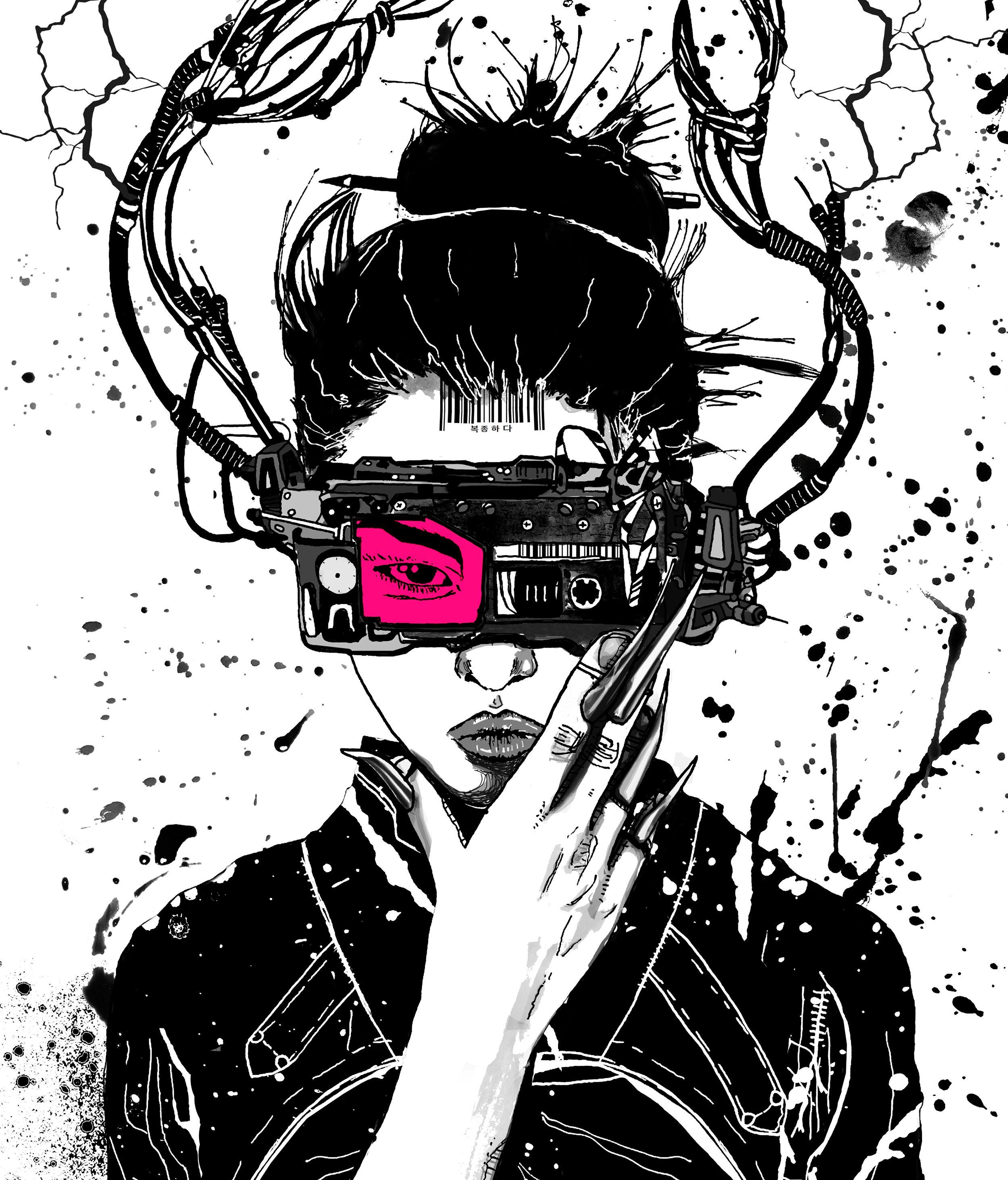 Cyberpunk Art Print Poster Etsy Cyberpunk Art Posters Art Prints Poster Prints