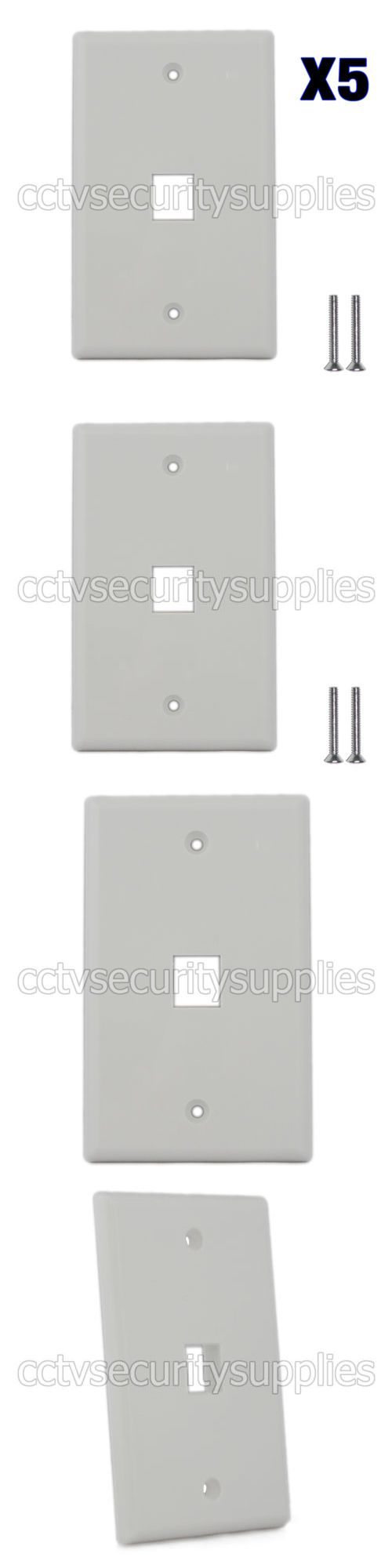 Switch Plates And Outlet Covers 162932 5 X Plastic Face Plate Cover 1 Port Wall Plate 1 Gang 2 Free Screws White Plates On Wall Plate Covers Switch Plates