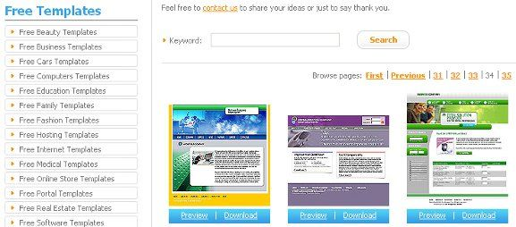 8 Places To Find Free Web Templates