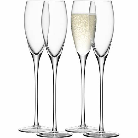 lsa wine champagne flutes 7oz 200ml pack of 4 a set of four