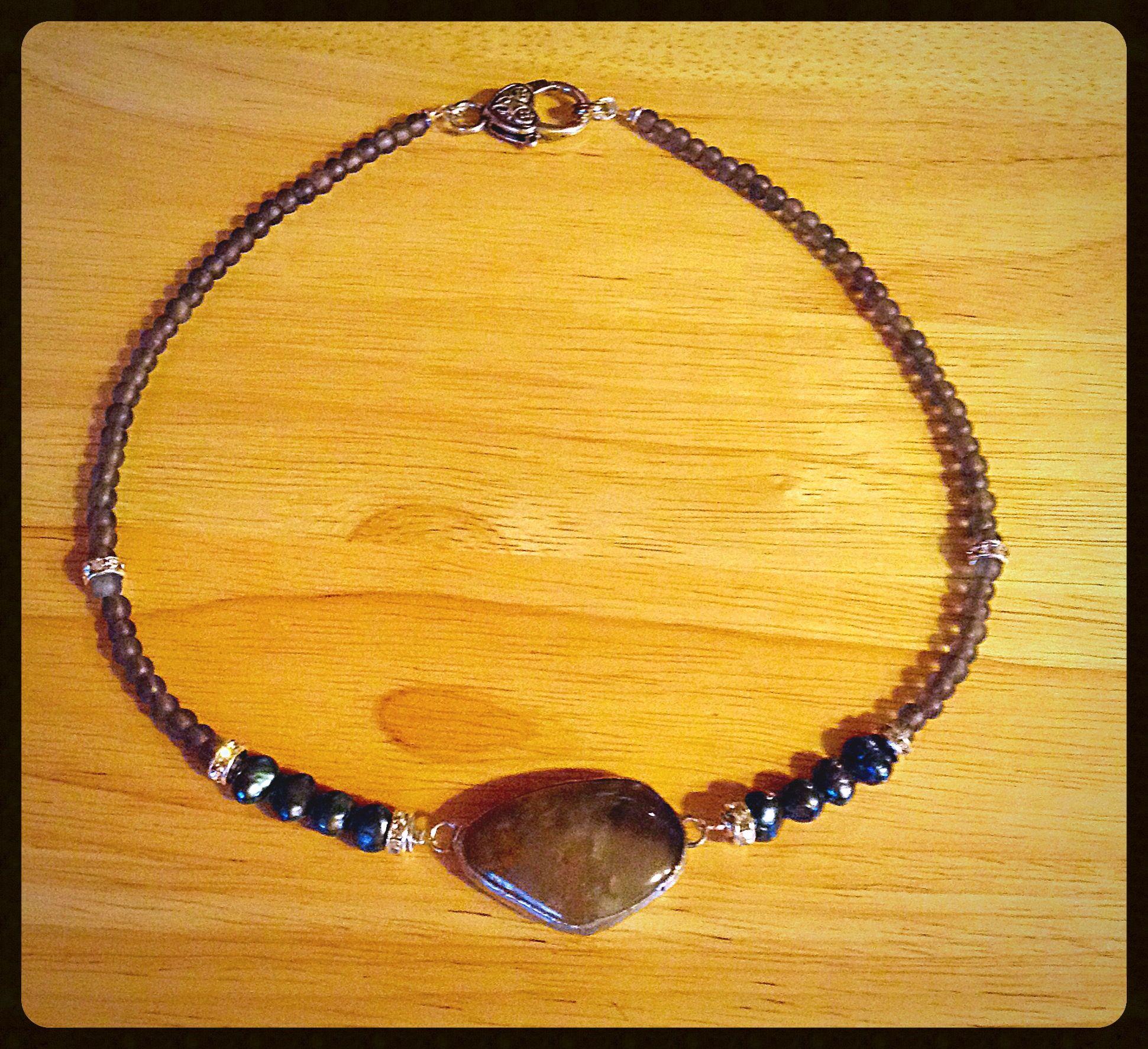 Natural Grey agate, black pearls, statement chocker necklace, crystal roundel Swarovski beads, gemstone, mala, statement necklace, layer necklaces, boho, bohemian, gipsy, gypsy, zen, Buddha, beads, silver,