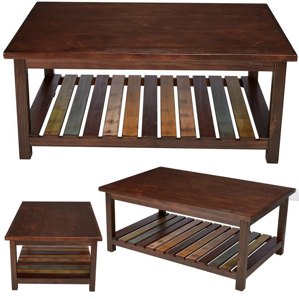 Rustic Sofa Table With Storage Large Open Wood Coffee Table Contemporary Wooden Farmhouse Cof With Images Rustic Sofa Tables Sofa Table With Storage Coffee Table Farmhouse
