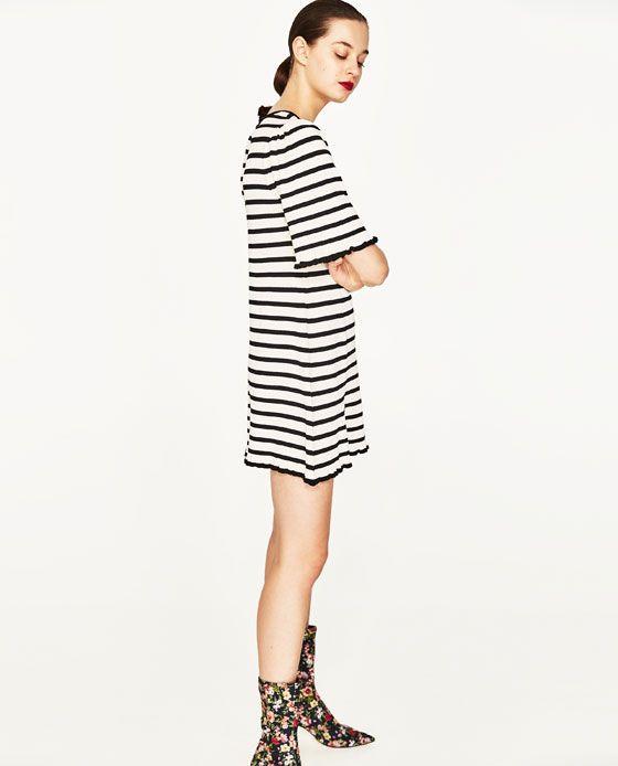 Image 4 of SHORT SLEEVE DRESS from Zara | Kurze kleider ...