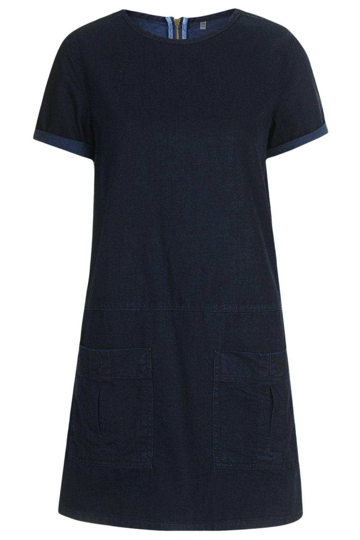 MOTO Denim Utility Tee Dress - Denim - Clothing - Topshop