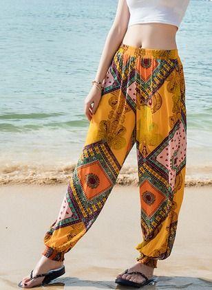 Pantalones Y Leggings Pantalones Poliester Haren Pantalones Hippies Mujer Ropa Hippie Mujer Ropa De Estilo Hippie