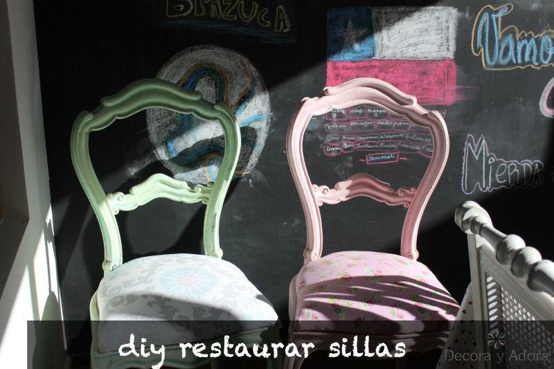decora e adora: DIY restaurar cadeiras da cozinha