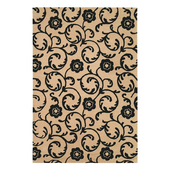 Fowler Hand-Tufted Beige / Black Area Rug