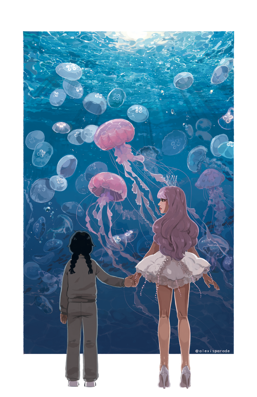A New Print For Metrocon I Loved The Princess Jellyfish Anime And While I Still Don T Think I M Ready To Look At Another Reference Pho Princessy Oboi Meduza