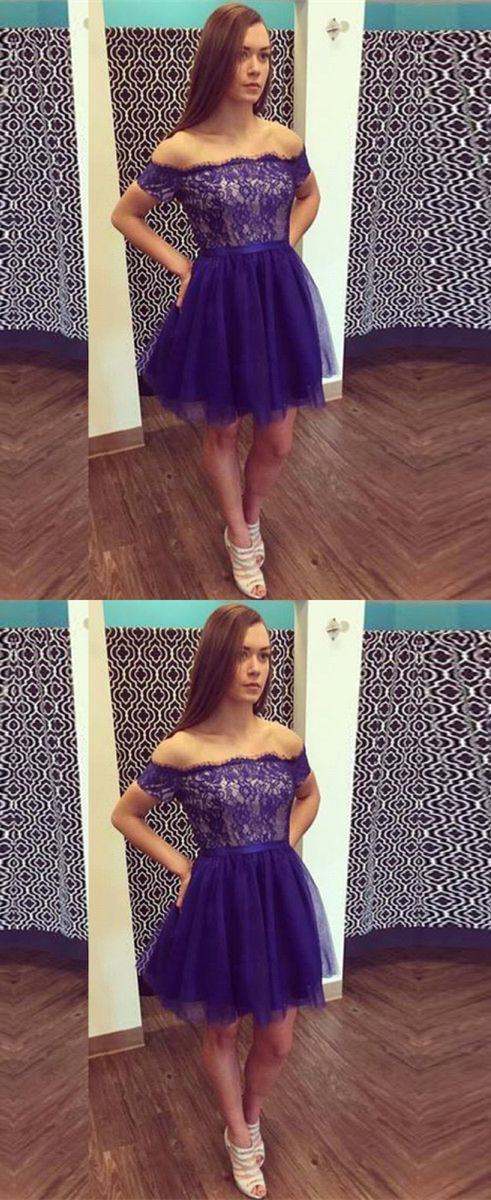 royal blue homecoming dresses, off the shoulder homecoming