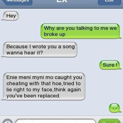 Enie meni | Quotes & Sayings | Cheating texts, Funny text