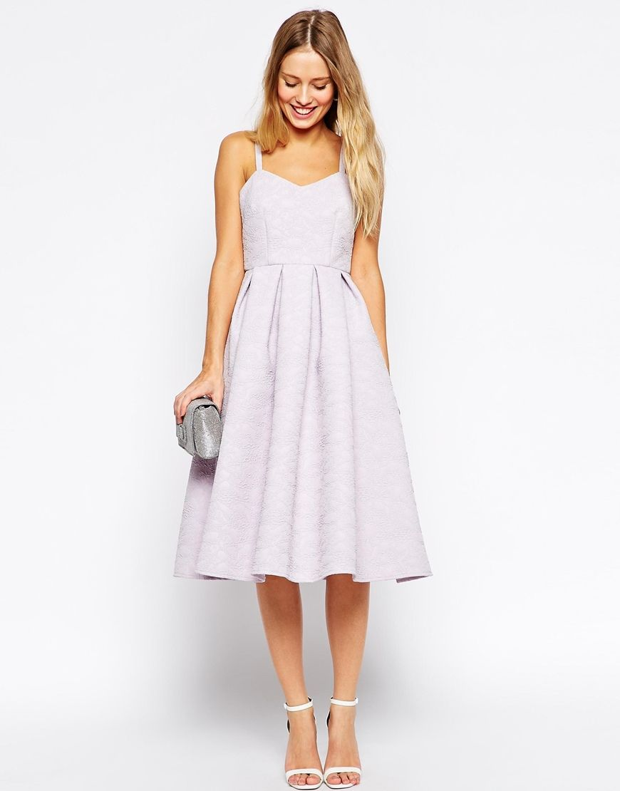 image 4 of asos midi skater dress in bonded texture With skater dress for wedding