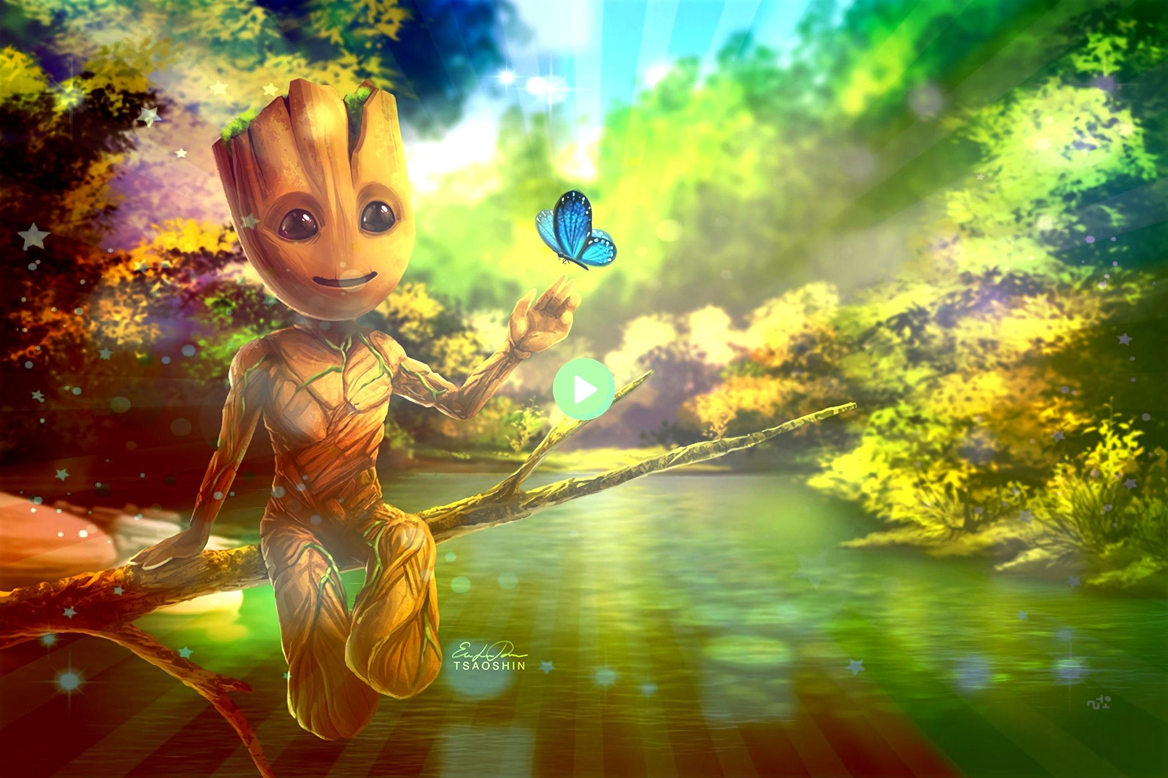 of the Galaxy Vol 2 Baby GrootGuardians of the Galaxy Vol 2 Baby Groot 11 x 17 Museum Quality 80 lb Gloss Art Print Hand Drawn Digitally Colored  100 Original Print comes...