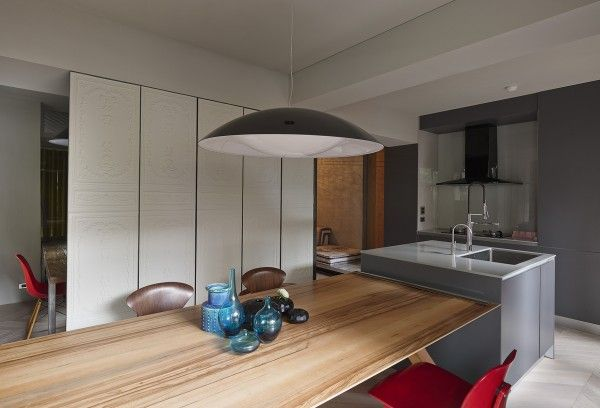 A small house divided modern efficient dining room